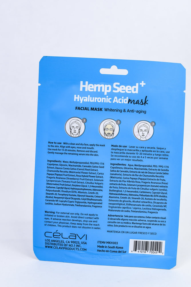 Hemp Seed Hyaluronic Acid Mask Sheet - SM013