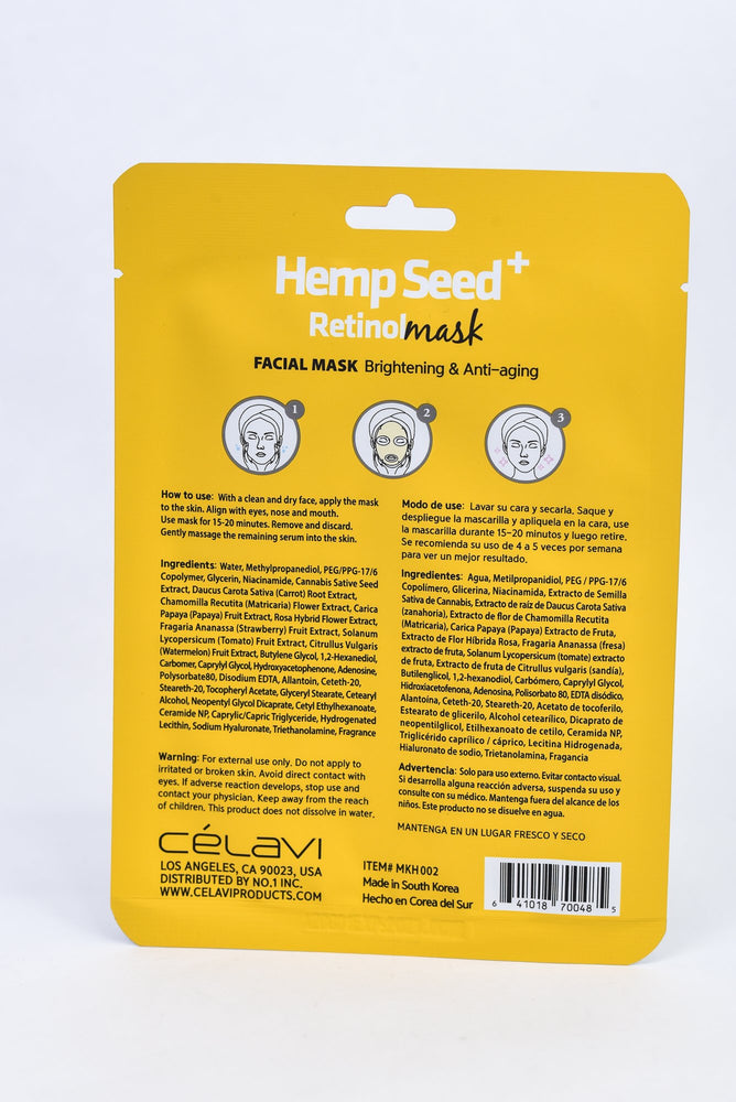 Hemp Seed Retinol Mask Sheet - SM012