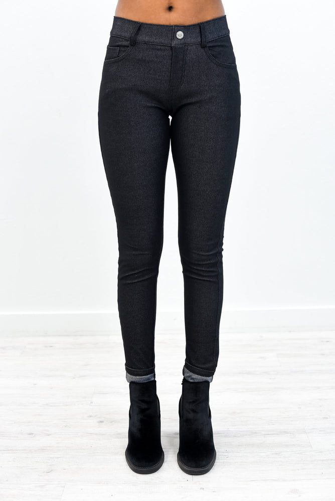 Better This Way Black Jeggings - JEG561BK