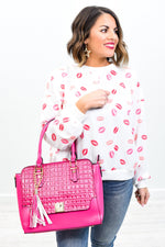 Be The Brightness In Someone's World Hot Pink 2 In 1 Bag - BAG1463HPK