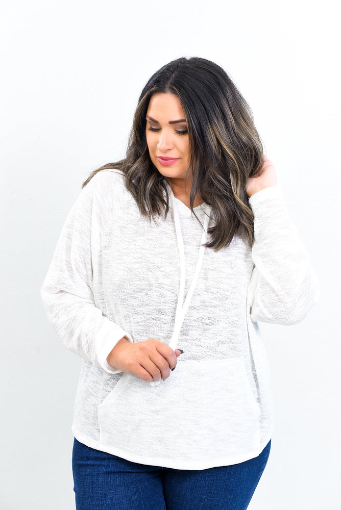 Beauty Begins When You Decide To Be Yourself White Hooded Top - B10546WH