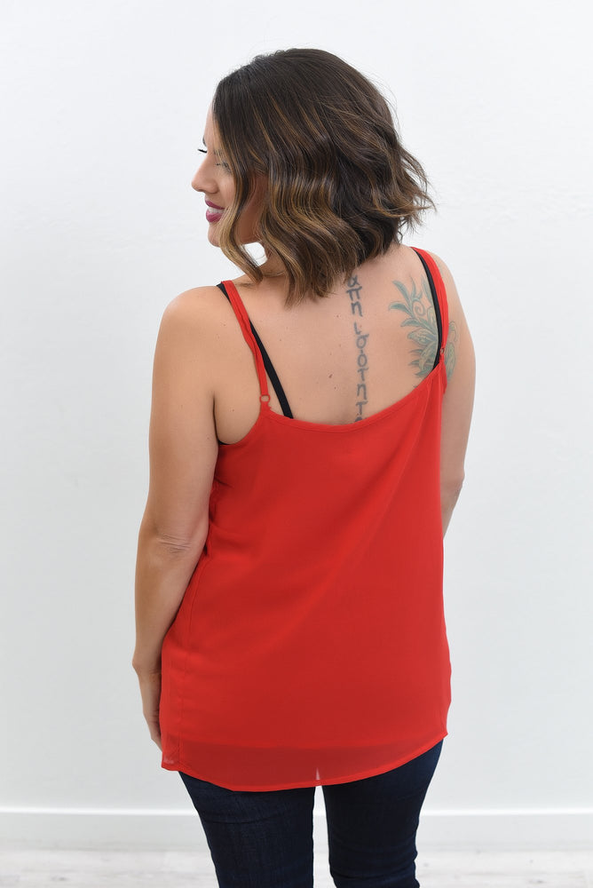 Lady In Red Red Sheer Top - B10620RD