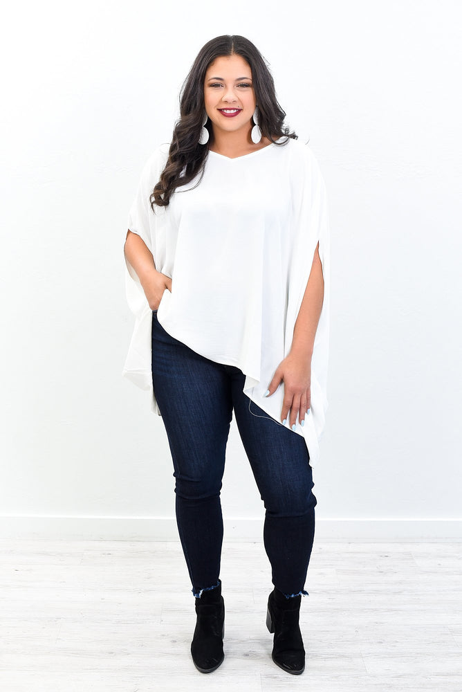 A Brighter Day Off White Solid Top -  B10744OW