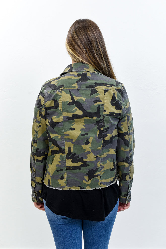 New To Town Olive Camouflage Jacket - O3035OL