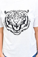 Eye Of The Tiger Ivory/Black Tiger Printed Top - B10862IV