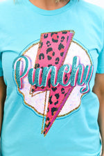 Punchy Heather Sea Green Graphic Tee - A1151HSG