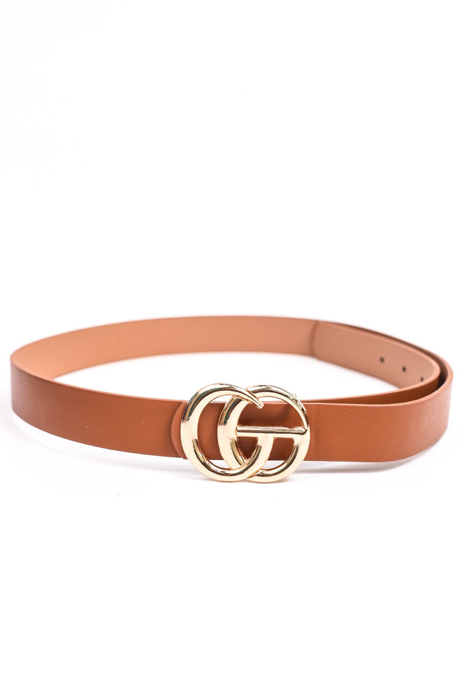 Cognac/Gold Belt - BLT1053CGN