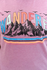 Wanderer Orchid Graphic Tee - A1239OD