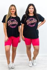 Come On Barbie Black Graphic Tee - A1236BK
