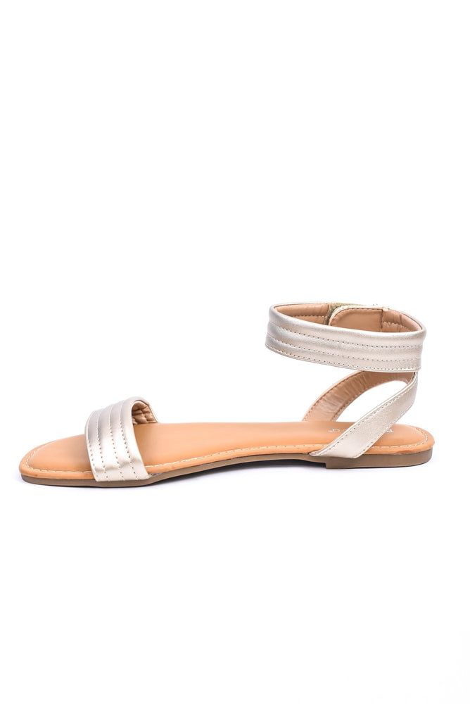 Vacation Is Calling Gold Sandals - SHO2029GO