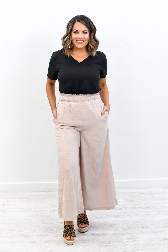 Sunny Business Tan Flare Pants - PNT1186TN
