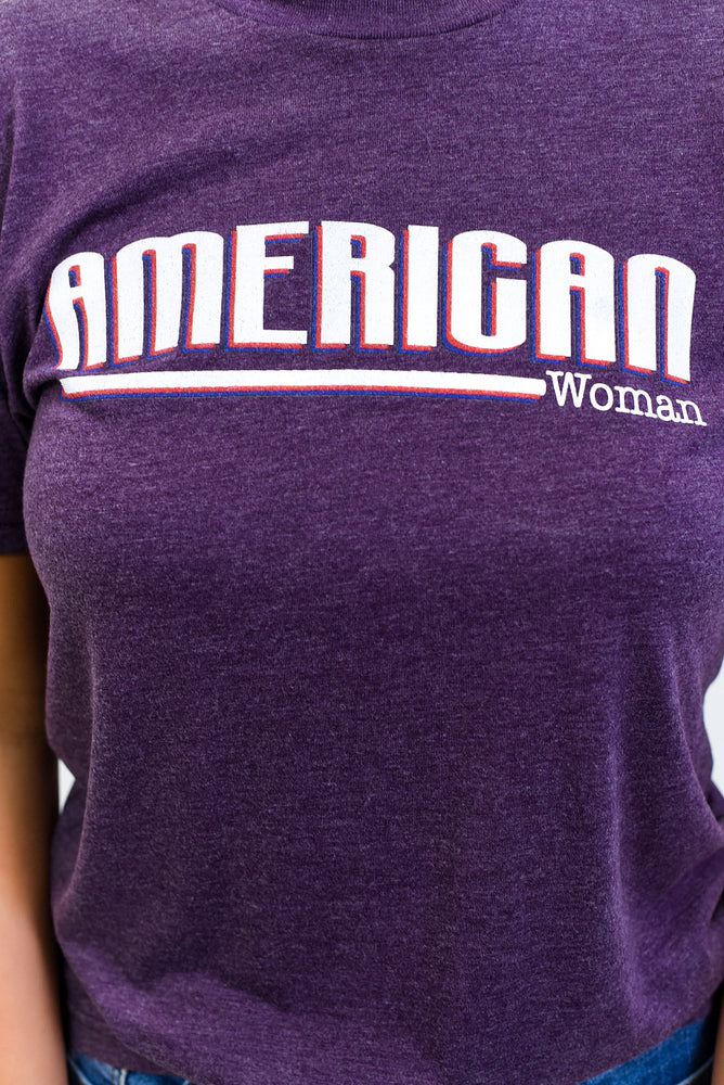 American Woman Vintage Purple Graphic Tee - A1266VPU