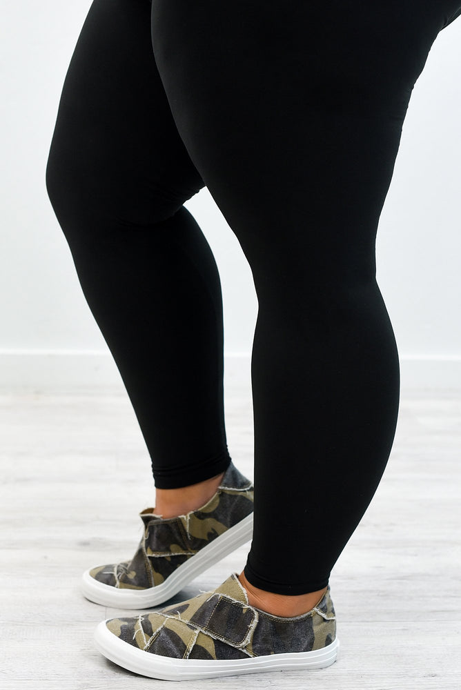Black Solid Capri Leggings (Sizes 20-26)  - LEG2786BK