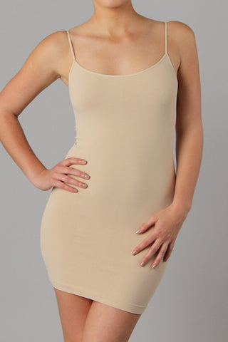 Suntan Cami Slip Dress (Sizes 12-18) - SLP004ST-Tee for the Soul