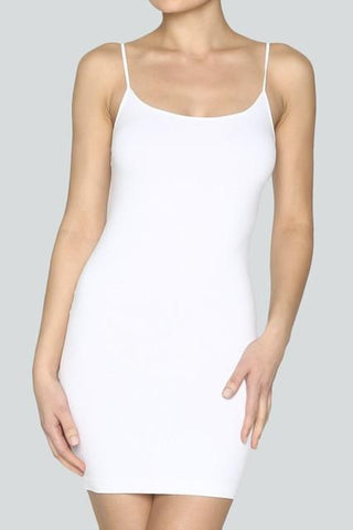 White Cami Slip Dress (Sizes 12-18) - SLP004WH-Tee for the Soul