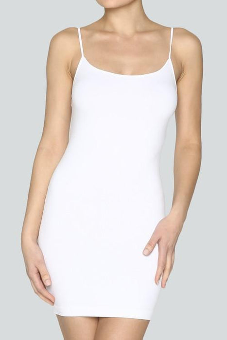 White Cami Slip Dress-CAM011WH-Tee for the Soul