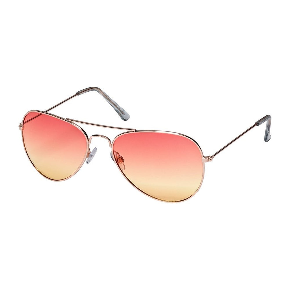 Orange/Yellow Aviator Sunglasses - AVI1003OR - FREE hard case