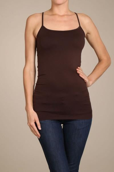 Brown Basic Seamless Cami (Sizes 12-18) - CAM909BR