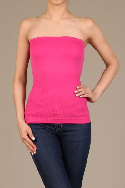 Fuchsia Seamless Tube Top - TUB347FU-Tee for the Soul