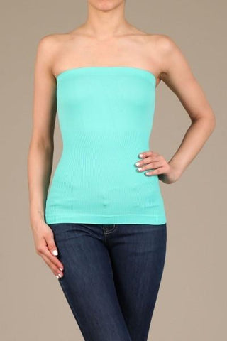 Mint Seamless Tube Top - TUB347MT-Tee for the Soul