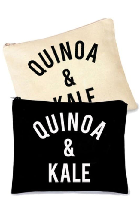 Quinoa And Kale Makeup Bag - MUB927-Tee for the Soul