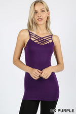 Dark Purple Caged Front (Sized) Cami - CAM1011DPU