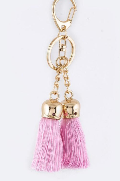 Double Tassel Keychain/Bag Charm - KEY402-Tee for the Soul