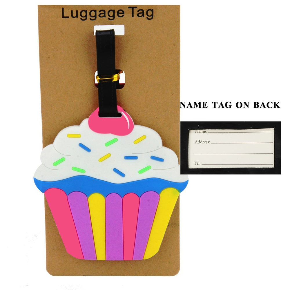 Multi Color Cupcake Luggage Tag - TAG1021MU