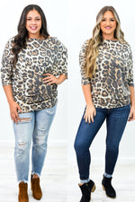 Blissful Autumn Days Leopard Off The Shoulder Top - B10065LE