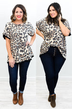 Live For Each Second Without Hesitation Leopard Top - B10593LE