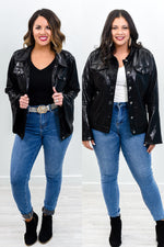 Two Stepping Showstopper Black Metallic Jacket - O2972BK