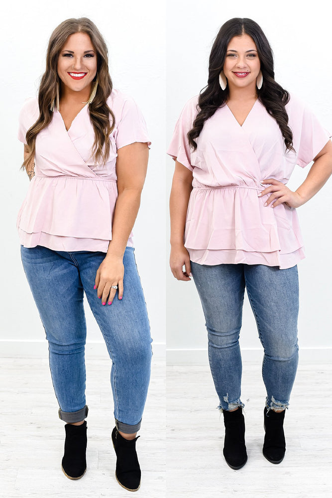 Layered With Love Blush Babydoll Top - B10469BS