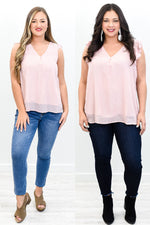 Beauty Will Rise Blush V Neck Top - B10661BS