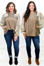 It's Worth Your Time Brown/Multi Color/Pattern Embroidered Top - B9873BR