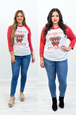 Dog-Gone It Be My Valentine Heather White/Vintage Red Pug Printed Graphic Tee - A1121HWH