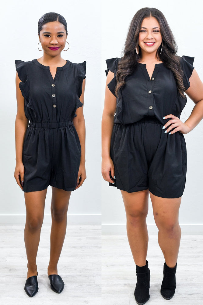 Every Day Go To Black Romper - RMP423BK