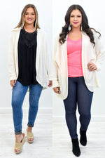 Fall Into The Light Ivory Knitted Cardigan - O3037IV