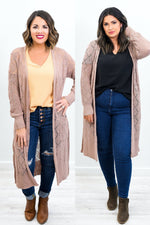 Unconditional Love Latte Knitted Cardigan - O2997LT
