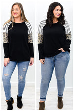 A Touch Of Love Everyone Becomes A Poet Black/Ivory Colorblock Top - B9789BK