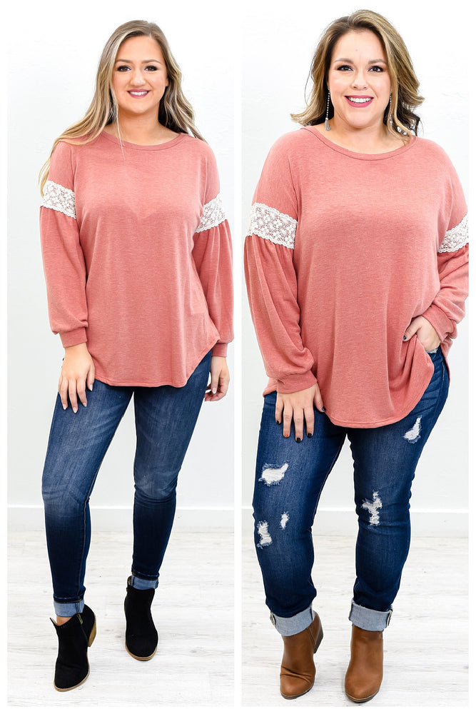 Warmest Embrace Rust Long Sleeved Top - B9678RU