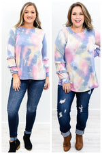 Meeting With The Angels Pink/Blue Tie Dye Top - B9667PK