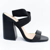 Take It Up A Notch Black Leather Heels - SHO1906BK