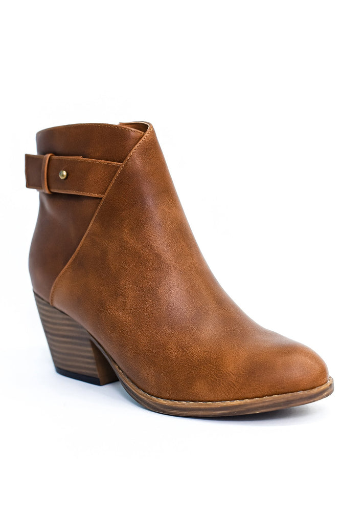Step Into My Life Brown Booties - SHO1873BR