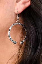 Silver Western Horseshoe Earrings - EAR3039SI