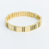 Gold Beaded Stretch Bracelet - BRC2829GO