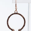 Copper Western Horseshoe Earrings - EAR3038CP