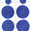 Royal Blue 3-Tier Seed Bead Earrings - EAR3043RB