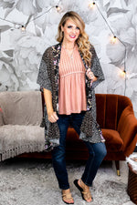 Focus On The Happy Times Heather Gray/Multi Color Tie Dye Sleeves Top - B9269HGR