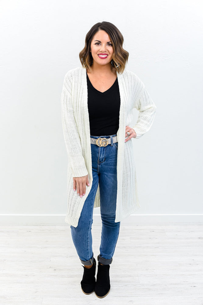 Keeping You By My Side Ivory Knit Cardigan - O2975IV