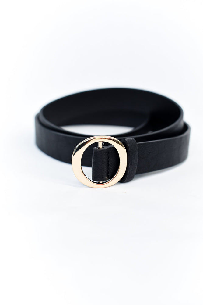 Black/Gold Regular Belt - BLT1116BK